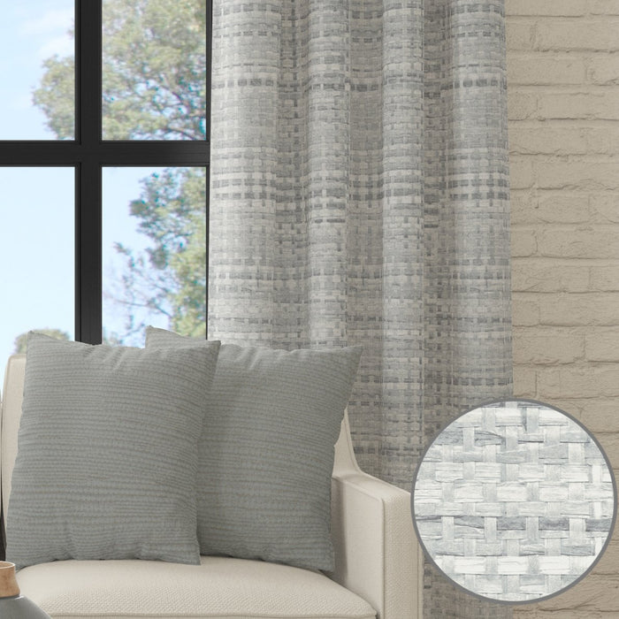 Bamboo Printed Veronica Curtain Panel by Artist Marcelle Bleu
