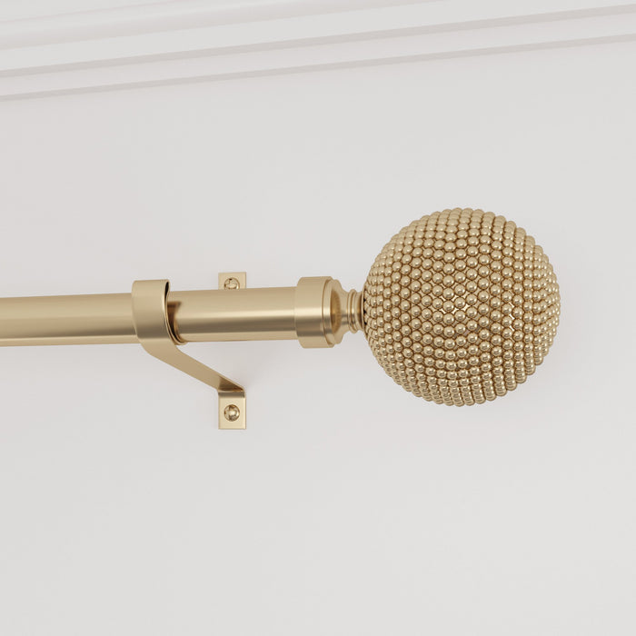 Smithsonian Museum Beaded Finial Curtain Rod