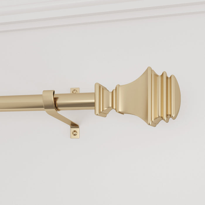 Smithsonian Museum Square Carved Finial Curtain Rod