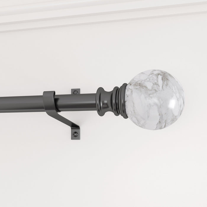 Smithsonian Museum Round Finial Curtain Rod
