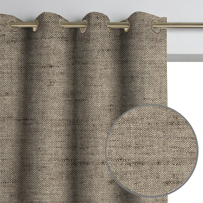 Gemma Linen Textured Curtain Panel