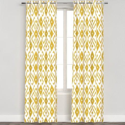 Boho Tribal Ikat Curtain Panel
