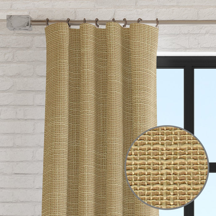 Laurel Linen Textured Weave Curtain Panel