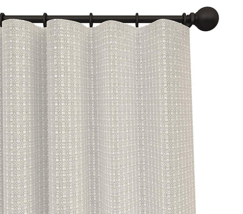 Pair Montana Solid Woven Blended Cotton Curtain Panels with FREE Curtain Rod