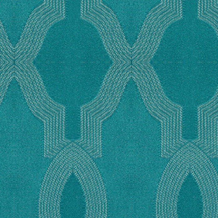 Heather Cotton Moroccan Trellis Damask Pair of Curtain Panels