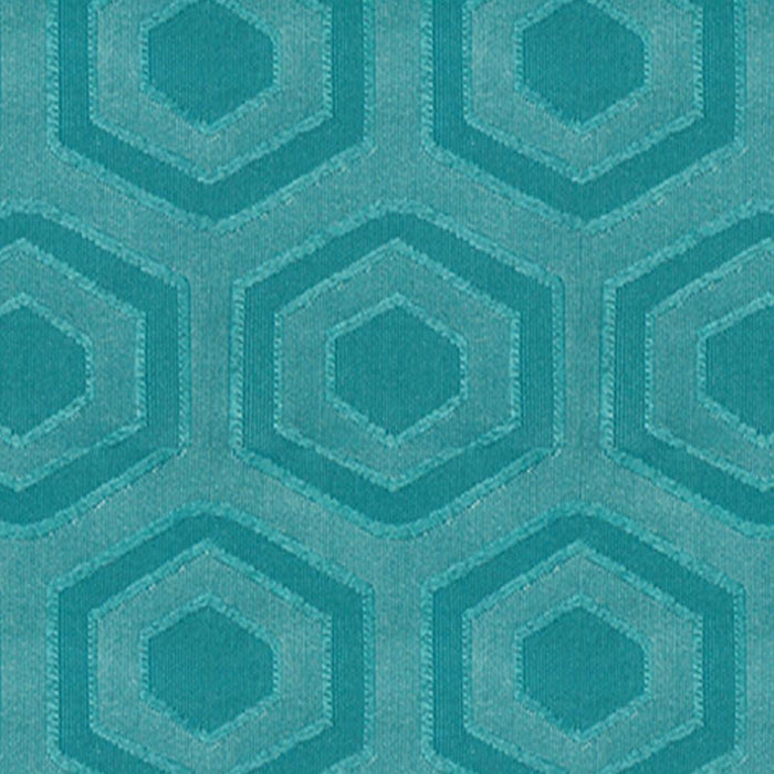Heloise Cotton Hexagonal Pattern Pair of Curtain Panels