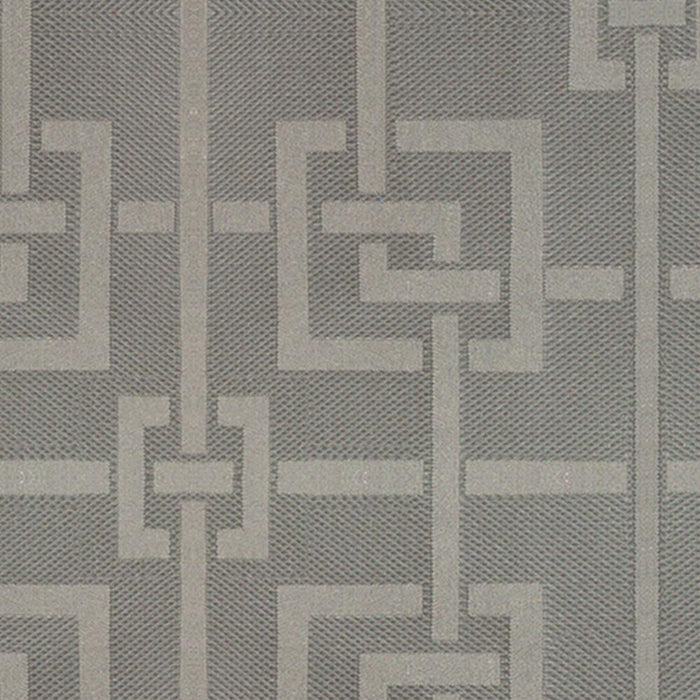 Pair Geovan Cotton Greek Key Geometric Curtain Panels with 3D Jacquard Raised Embroidery with FREE Curtain Rod