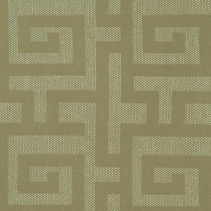 Layla Cotton Greek Key Geometric Curtain Panel with 3D Jacquard Raised Embroidery