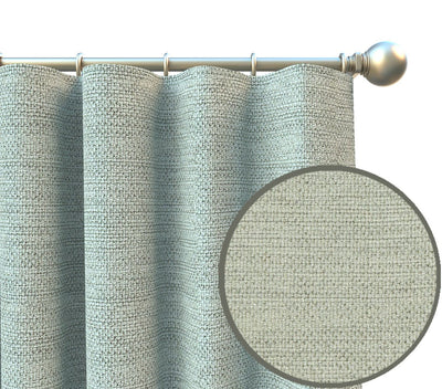 Pia Textured Cotton Heavyweight Curtain Panel