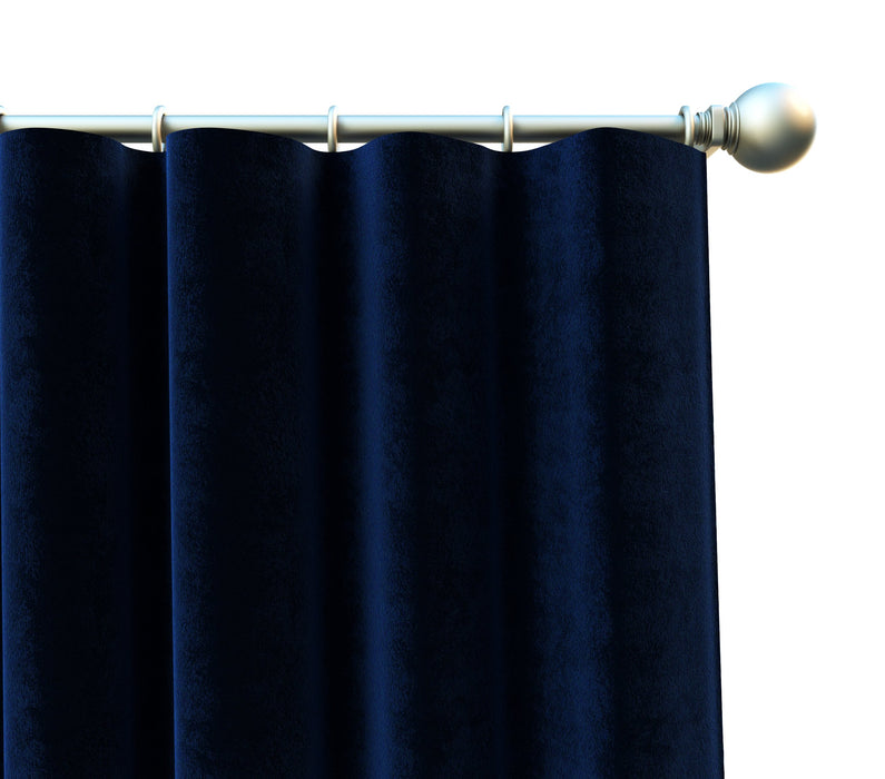 Smithsonian Museum Luxury Velvet  Plum 100% Cotton Solid Plush High Pile Velvet Pair of Curtain Panels