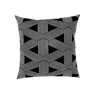 Phoenix Trellis Geometric Blended Cotton Decorative Pillows (Set of 2)