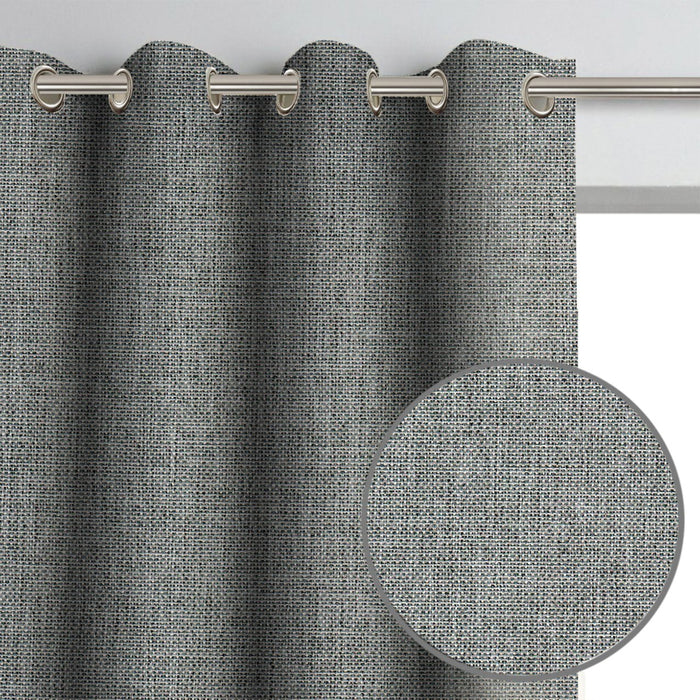 Shay Woven Blackout Grommet Drapery Panel