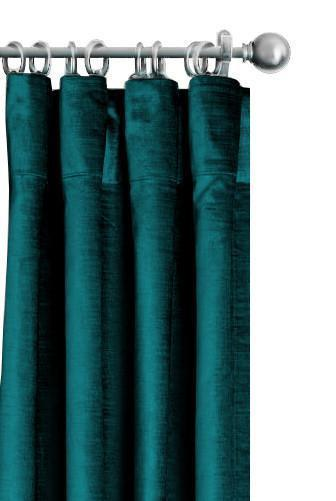 Pair Siena Silk Velvet Curtain Panels with FREE Curtain Rod