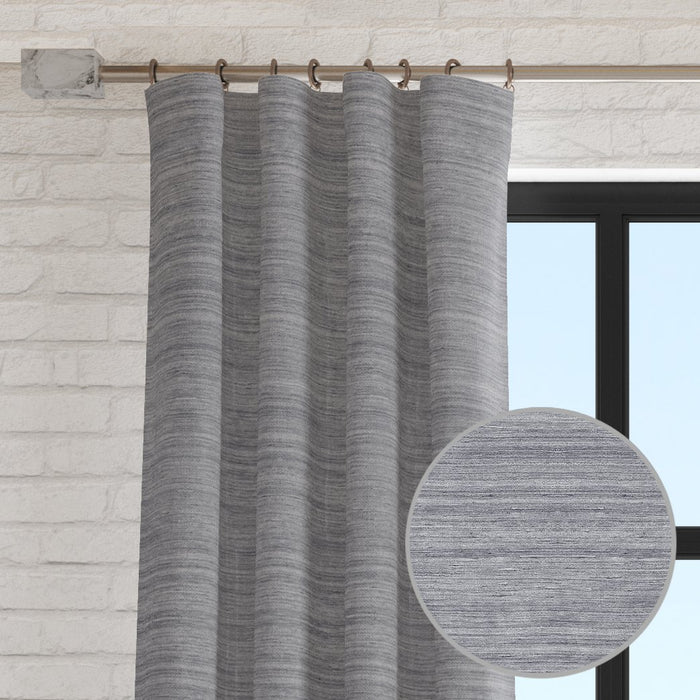 Shayla Faux Raw Silk Curtain Panel