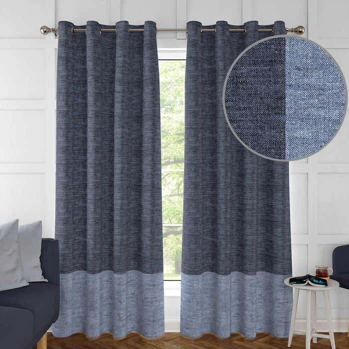 2 Pack, Grayson Border Curtains by Artist Marcelle Bleu