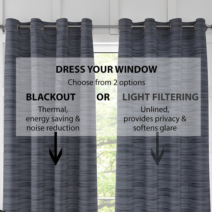 2 Pack, Newest Blue Light Filtering Curtains (Blackout available)