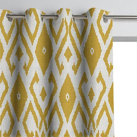 Pair of Boho Tribal Ikat Curtains and Pair of Sheers