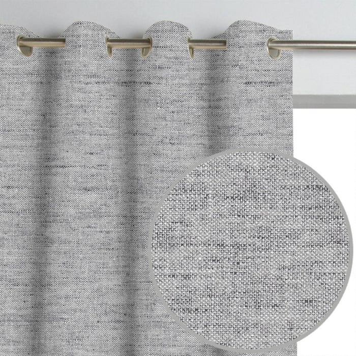 Pair of Grayson Linen Textured Curtains and Pair of Sheers