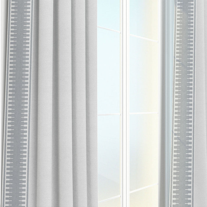 Oliver Border Trim Striped Patterned Curtain Panel