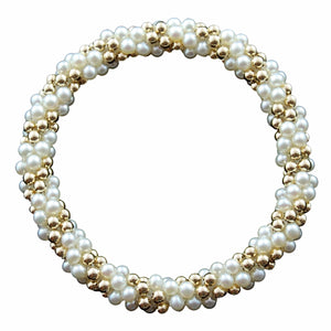 Fresh Water Pearl & 14kt Gold Rope Bracelet - Therese Custom Designs