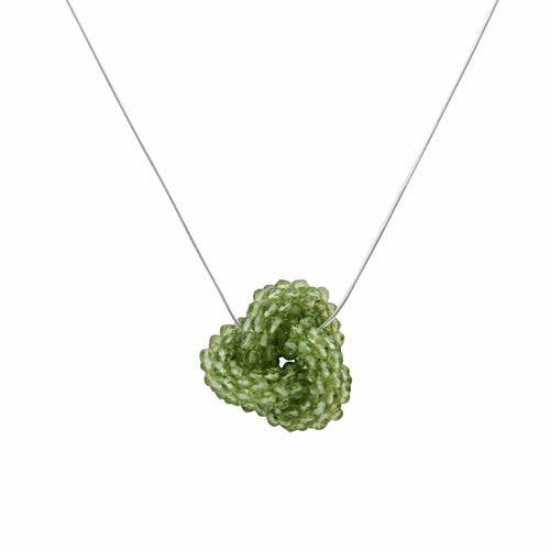 Peridot Love Knot - Therese Custom Designs