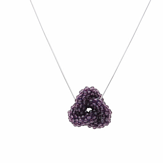 Amethyst Swarovski Crystal Love Knot - Therese Custom Designs