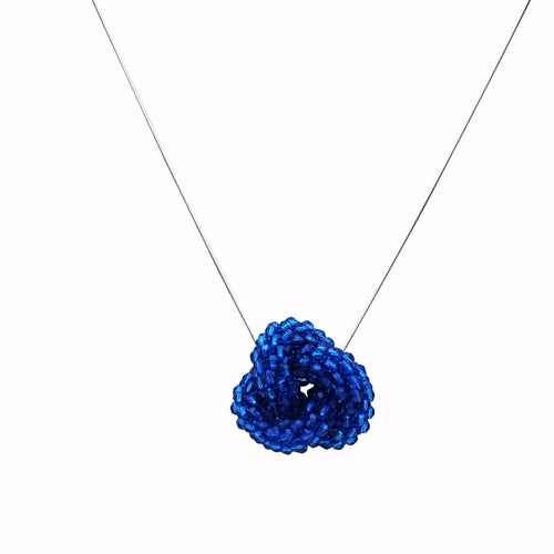 Sapphire Swarovski Crystal Love Knot - Therese Custom Designs