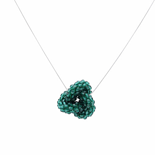 Emerald Swarovski Crystal Love Knot - Therese Custom Designs