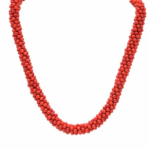 Natural Red Coral Rope Necklace - Therese Custom Designs