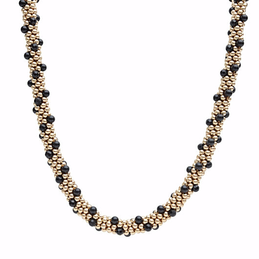 Onyx & 14kt Gold Filled Rope Necklace - Therese Custom Designs