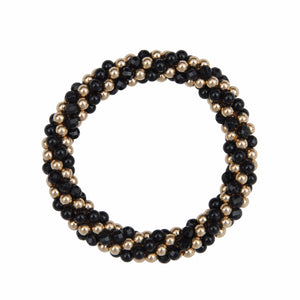 Onyx & 14kt Gold Filled Rope Bracelet - Therese Custom Designs