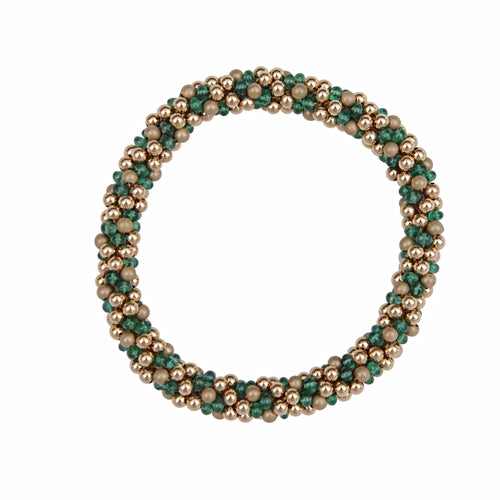 Emerald & 14kt Gold Rope Bracelet - Therese Custom Designs
