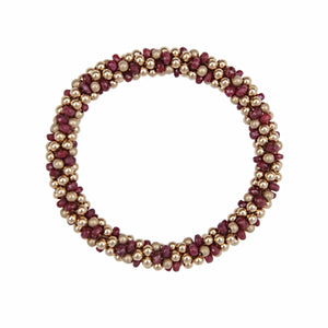 Ruby & 14kt Gold Rope Bracelet - Therese Custom Designs