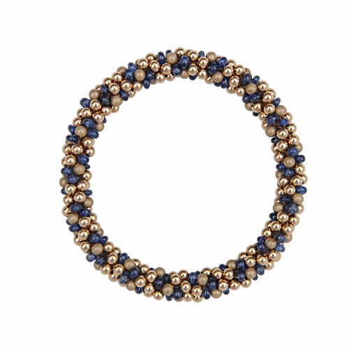Sapphire & 14kt Gold Rope Bracelet - Therese Custom Designs