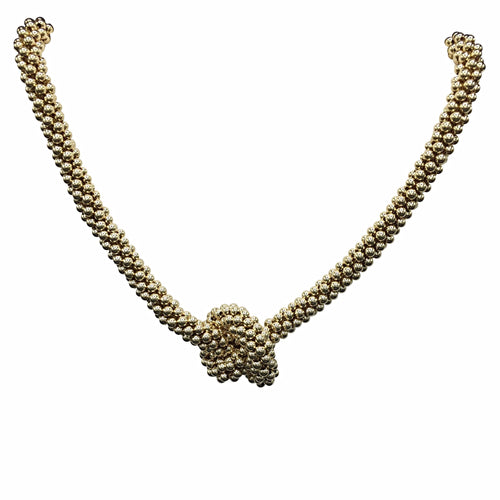 14kt Gold Knot Necklace - Therese Custom Designs