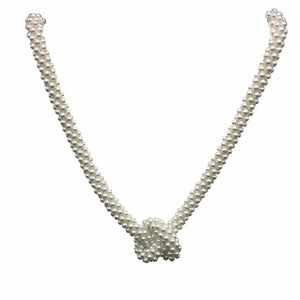 Fresh Water Pearl Knot Necklace - Therese Custom Designs