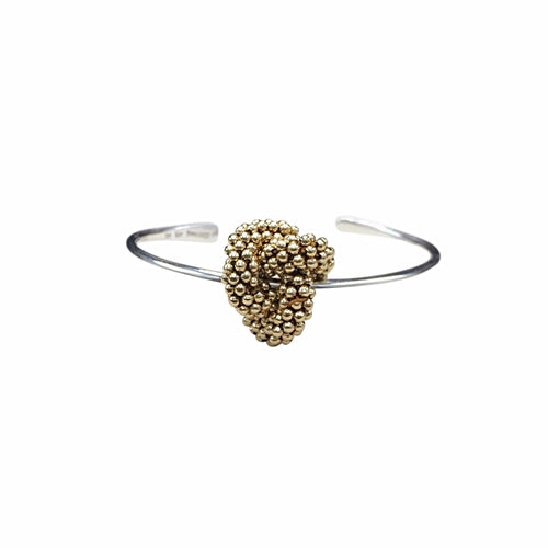 14kt Gold Filled & Sterling Silver Love Knot Cuff Bracelet - Therese Custom Designs