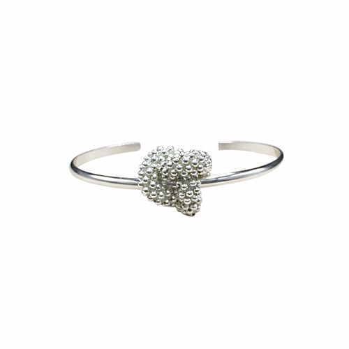 Sterling Silver Love Knot Cuff Bracelet - Therese Custom Designs