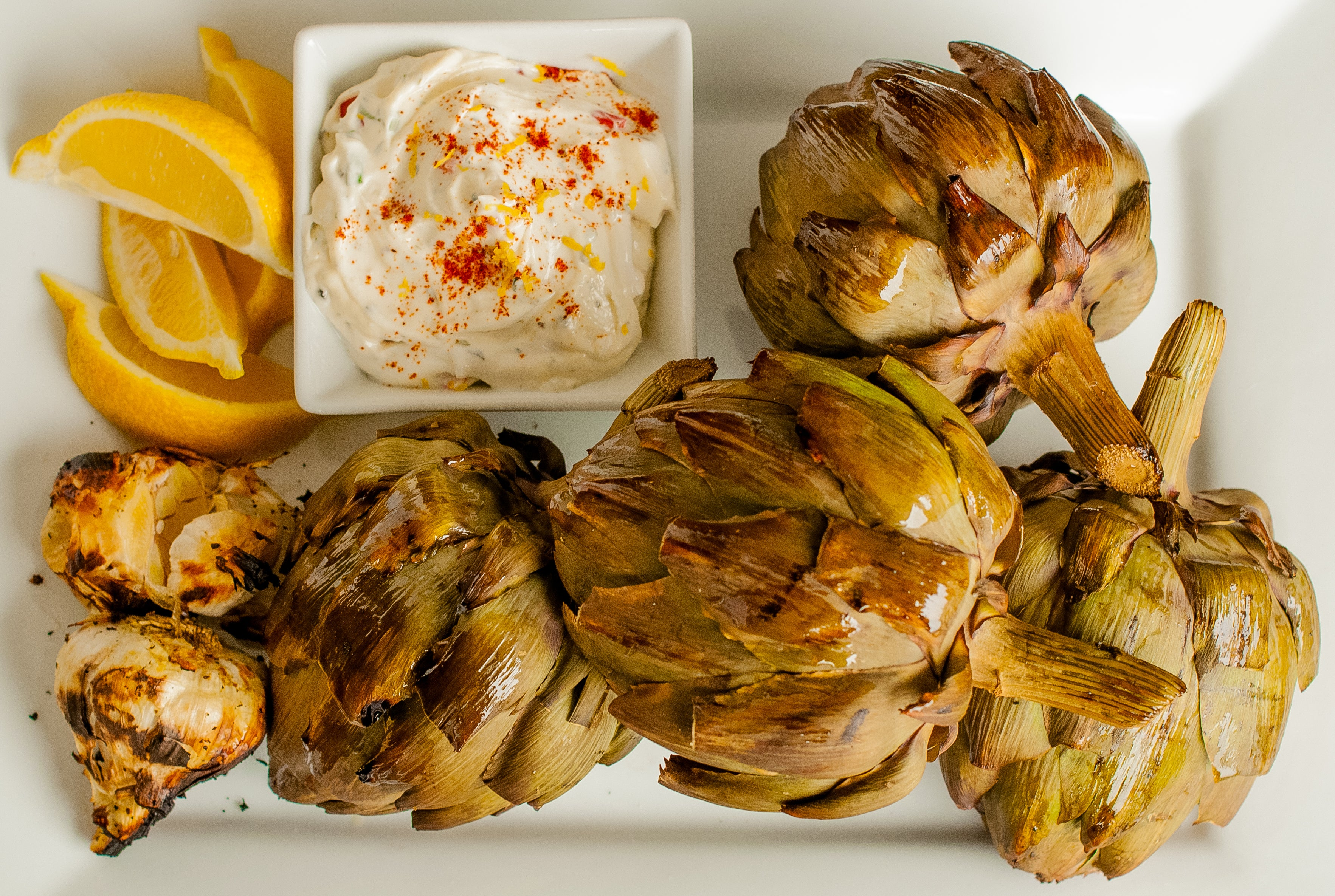 Smoked Artichoke and Smoked Garlic Aioli