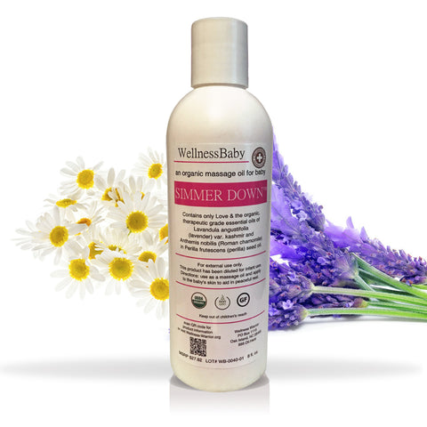 Simmer Down Massage Oil - for Baby