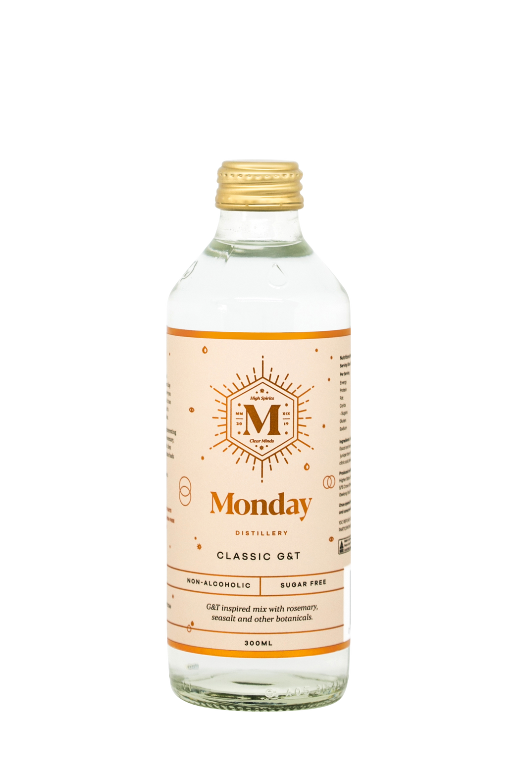 Monday Distillery Non-Alcoholic Classic G&T (8/24 Bottles) FREE SHIPPING