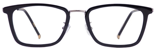 Black Ideal Eyeglasses Men Front - Leone Eyewear
