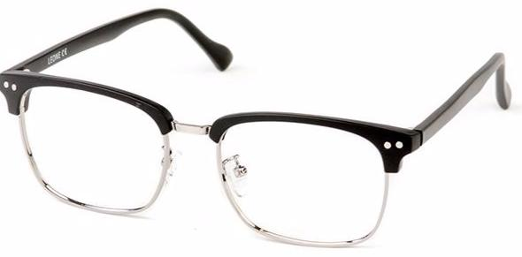 Matt Black Haston Eyeglasses Side - Leone Eyewear