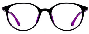 Pure Black Purple Eyeglasses - Leone Eyewear