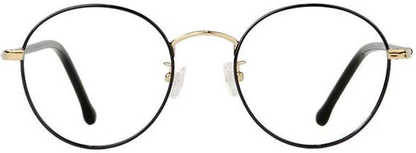 Black Gold Haston II Eyeglasses Front - Leone Eyewear
