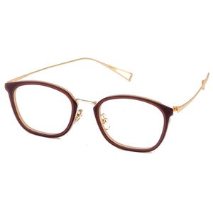 Prime Gold Brown Eyeglasses Side - Leone Eyewear