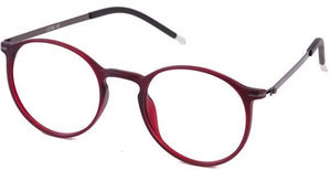 Red Brooklyn Eyeglasses Side - Leone Eyewear