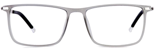 Matt Clear Bergamo Eyeglasses Men Front - Leone Eyewear