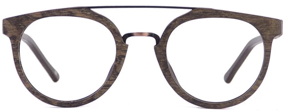 Wood Dallas Eyeglasses Men Front - Leone Eyewear