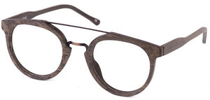 Wood Dallas Eyeglasses Hombre Side - Leone Eyewear